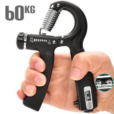 HAND GRIP計次型60KG握力器(阻力5~60公斤調節)   計數可調式握力器.手臂力器臂熱健臂器