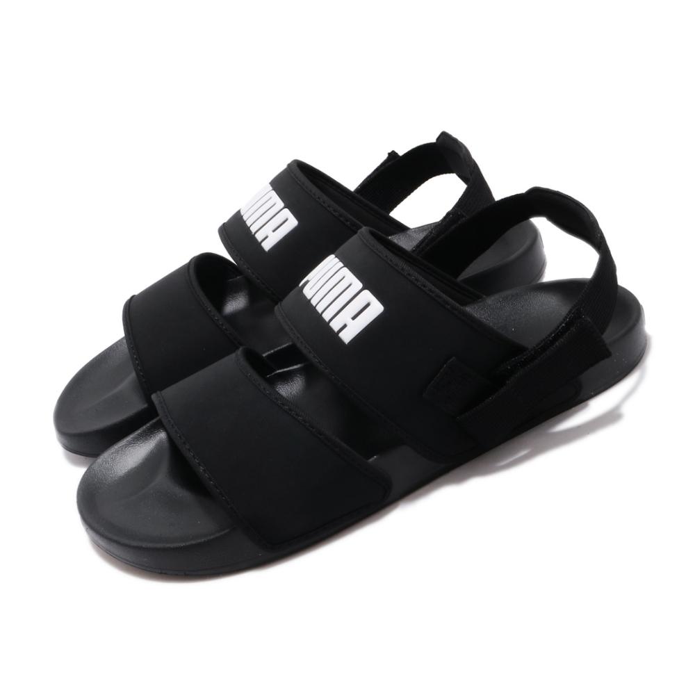 Puma 涼拖鞋 Leadcat YLM 套腳 女鞋 輕便 舒適 簡約 可拆式後跟 黑 白 37073301