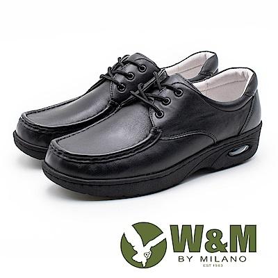 W&M 皮質氣墊彈力綁帶護士鞋 女鞋 - 黑(另有白)