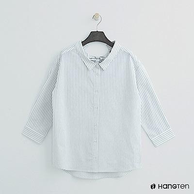 Hang Ten - 女裝 - 後綁結直條襯衫 - 白