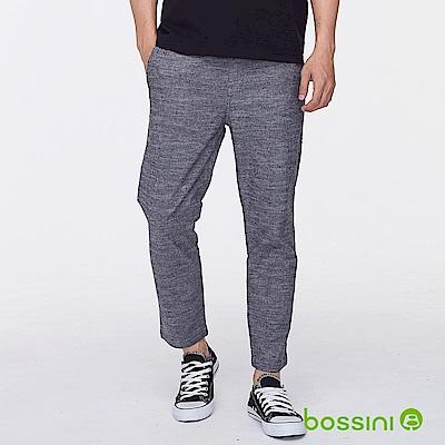 bossini男裝-彈性九分褲黑