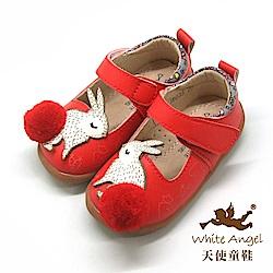 天使童鞋 親親小紅兔娃娃鞋(小-中童)i8035-紅