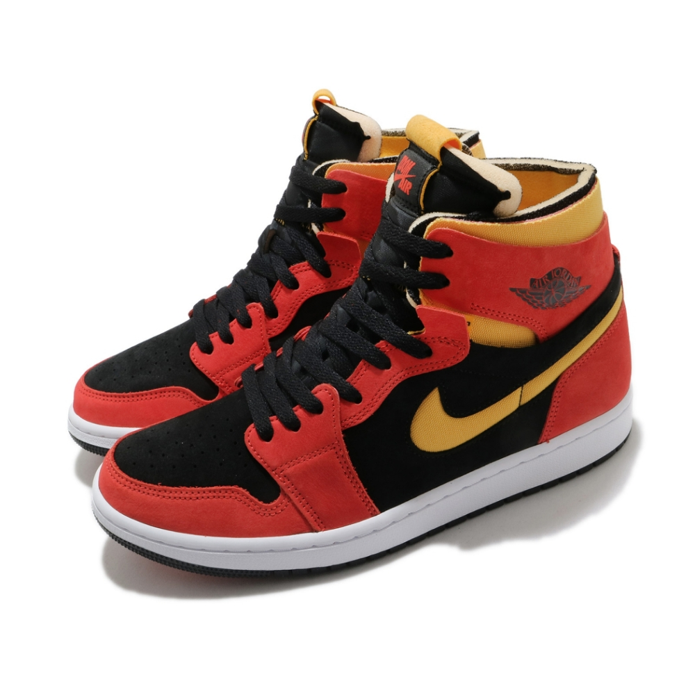 Nike 籃球鞋 AJ1 Zoom Air 運動 男鞋 氣墊 舒適 避震 喬丹一代 穿搭 球鞋 黑 紅 CT0978006