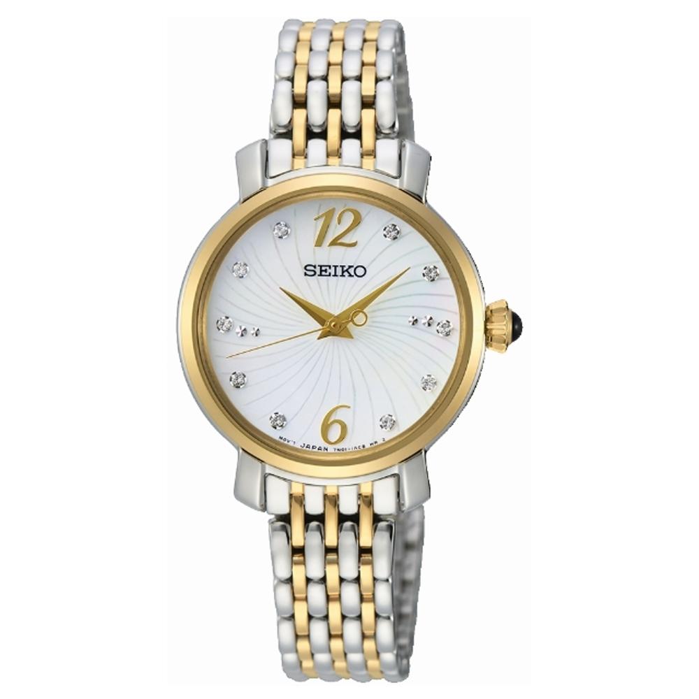 SEIKO 點綴優雅時光時尚腕錶SPZ522P1/7N01-0JK0G