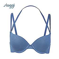 sloggi Everyday 有機過生活系列下厚上薄罩杯內衣 迷霧藍