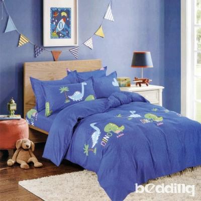 BEDDING-活性印染單人全鋪棉床包兩用被套三件組-恐龍樂園