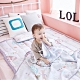 【Lolbaby】Rayon防靜電輕薄柔軟涼感嬰兒床墊-夢幻藍森林 product thumbnail 1