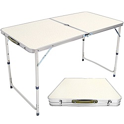 便攜式鋁合金折疊桌 手提摺疊桌 傘孔