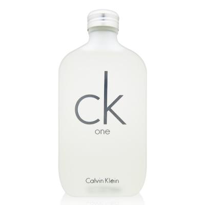 (限時優惠) Calvin Klein CK ONE 中性淡香水 200ml tester