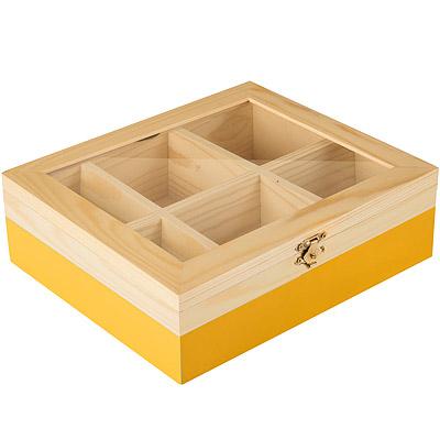 IBILI 木質茶包收納盒(黃)