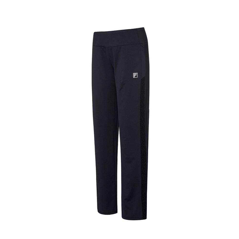 FILA 女吸濕排汗針織長褲-黑色 5PNV-1609-BK