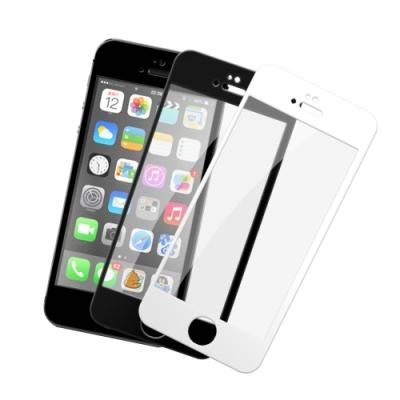 iPhone 5/5S/SE 軟邊 滿版 透明 9H鋼化玻璃膜 手機螢幕保護貼