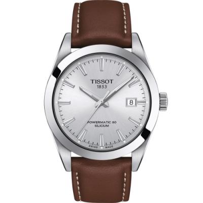 TISSOT天梭 GENTLEMAN 紳士密令機械錶(T1274071603101)-40mm