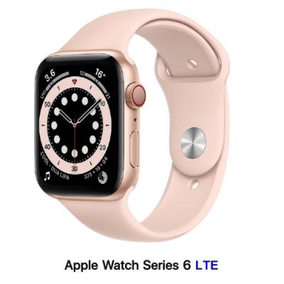 Apple Watch S6 40mm LTE版 金色鋁金屬錶殼配粉沙色運動錶帶