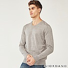GIORDANO 男裝基本款簡約素色針織衫-83 雙絞深棕