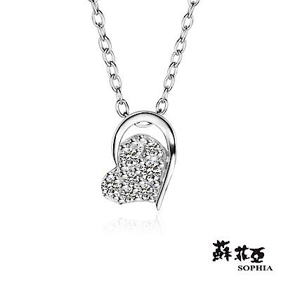 蘇菲亞SOPHIA - 輕珠寶系列偏心0.06克拉鑽石套鏈