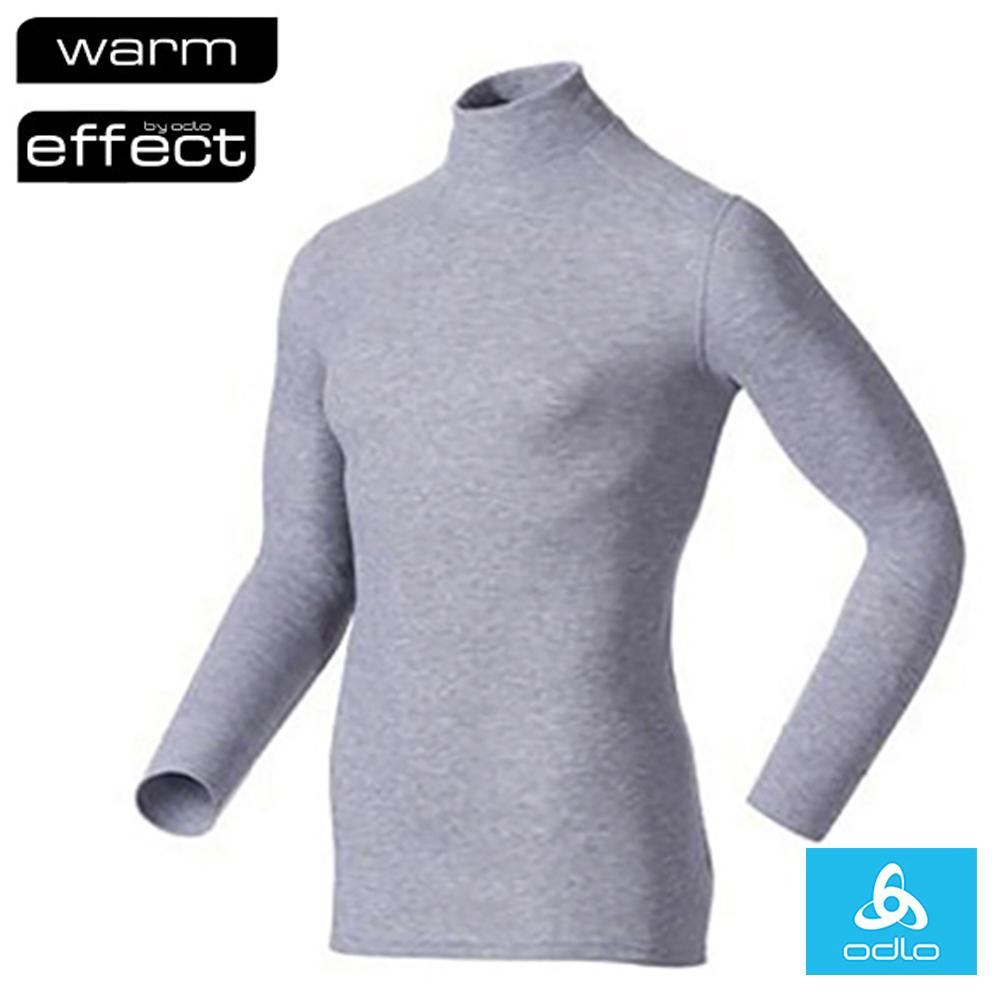 瑞士 ODLO WARM EFFECT 男 高領專業機能型銀離子保暖內衣_深麻灰