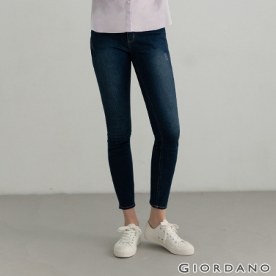 GIORDANO  女裝超彈力窄管牛仔褲 - 61 中藍