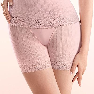 黛安芬-曲線美体衣纖體蕾絲系列短版高腰美体褲束褲M-EL柔嫩粉