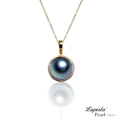 大東山珠寶 月光之珠 天然馬貝珍珠14K金可開式珍珠墜鍊 (活扣)