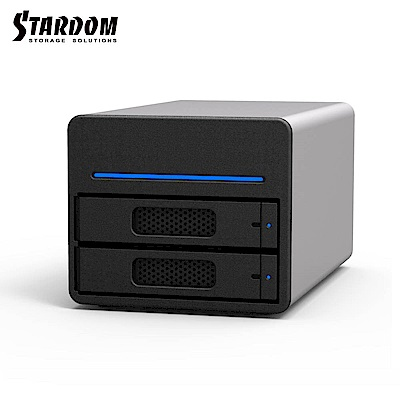 STARDOM 3.5吋/2.5吋USB3.0/eSATA/2bay磁碟陣列設備