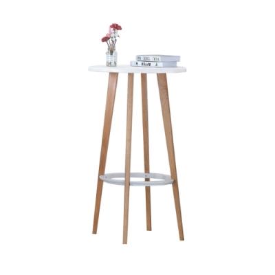 柏蒂家居-尤拉2尺白色圓桌/吧台桌-60x60x105cm