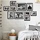 TROMSO 巴黎撞色木紋相框牆10框組-黑 product thumbnail 1
