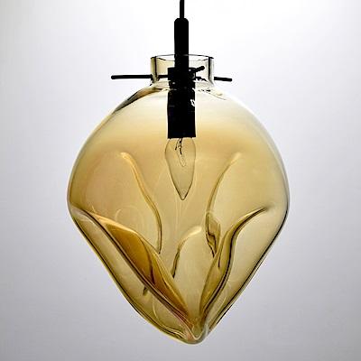 bnatural 手工吹製琥珀色玻璃吊燈 BNL00114