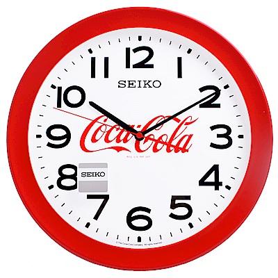【SEIKO 精工】可口可樂聯名款 時鐘 掛鐘-36.8cm(QXA922R)