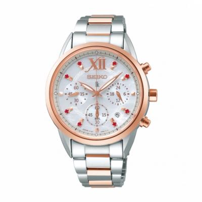 SEIKO LUKIA繽紛動人太陽能腕錶V175-0EW0G/SSC824J1