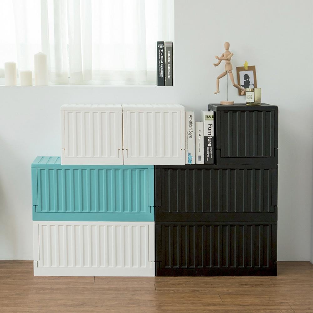 完美主義 貨櫃收納椅大+小超值組/收納箱/貨櫃椅/收納箱/玩具收納(多色)