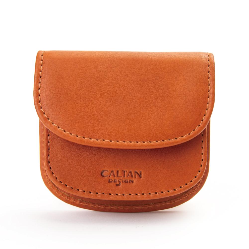 CALTAN 掀蓋開口風琴式零錢包 多隔層小包(1817cd-O)