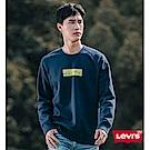 Levis 男款 大學T Lazy Tab Logo 海軍藍