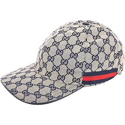 GUCCI Original GG 雙G緹花帆布棒球帽(藍色)
