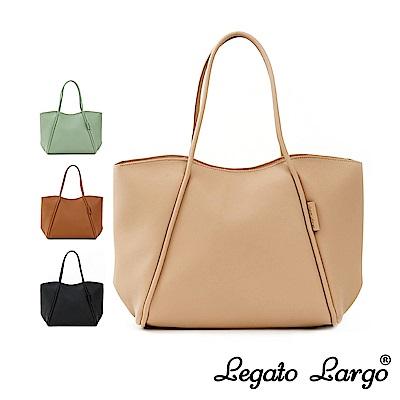 Legato Largo Hug me bag 輕柔質感皮革流線剪裁手提托特包