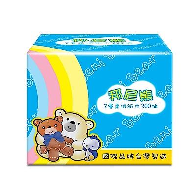 BeniBear邦尼熊抽取式柔式紙巾300抽x30包/箱(彩虹版)