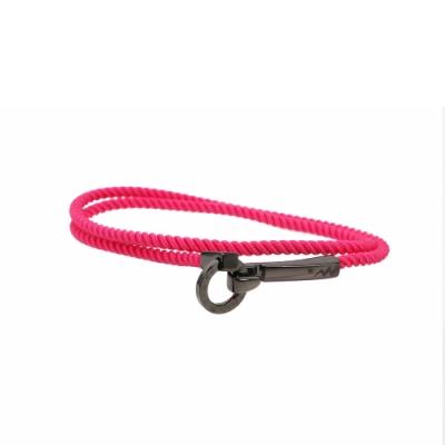 agnes b. - Sport b. e. 勾環造型編織手環(女)(桃紅)