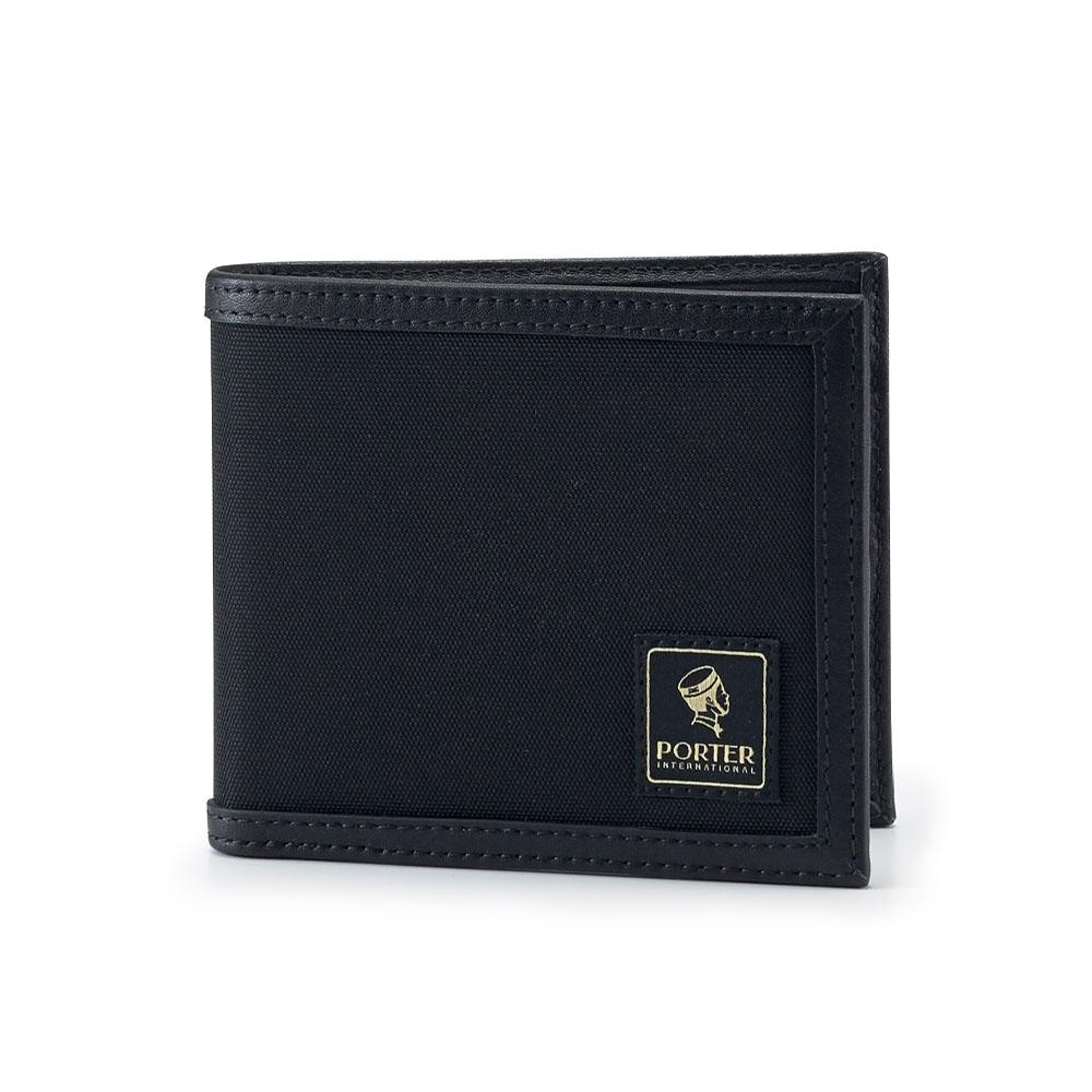 PORTER - 個性獨特FRINGE簡約橫式皮夾 - 黑