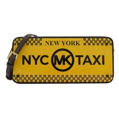 MICHAEL KORS NYC TAXI拉鍊斜背方盒(黃)
