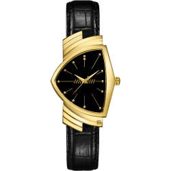 HAMILTON Ventura MIB星際戰警 跨國行動 盾形石英手錶-金框