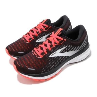 Brooks 慢跑鞋 Ghost 13 運動 女鞋 路跑 緩震 DNA科技 透氣 球鞋 黑 紅 1203381B061