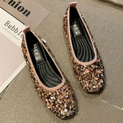 KEITH-WILL時尚鞋館 歡樂單品萬紫千紅亮片鞋-粉