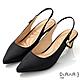 DIANA 6cm質感進口漸變雙色布珍珠釦飾尖頭穆勒跟鞋-優雅女伶-黑 product thumbnail 1