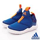 adidas童鞋 RapidaZen輕量慢跑款2540藍(小童段)