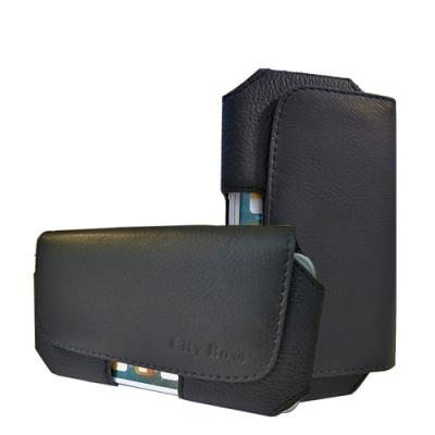 風尚簡約 商務頭層牛皮 磁扣腰包手機皮套