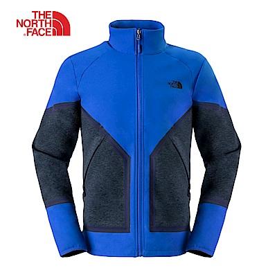 The North Face北面男款藍灰撞色防水透氣風衣|3L8GA831