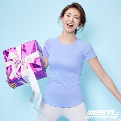 STL yoga ESSENCE light quickdry 韓國 運動機能 快速排汗 無肩線短袖 訓練上衣 瑜珈/重訓/路跑/戶外/休閒 本質圓領TEE 阿拉斯加藍