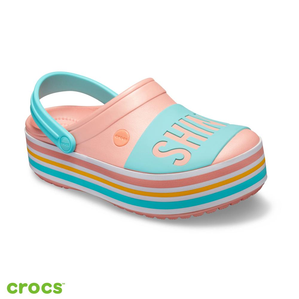 Crocs 卡駱馳 (中性鞋) Shine on厚底卡駱班 205699-737