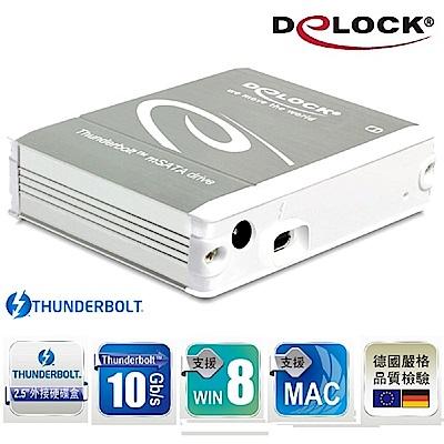 Delock 2.5吋Thunderbolt™ to mSATA 硬碟外接盒-42509