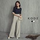 東京著衣-KODZ 都會撞色條紋真兩件式套裝-S.M.L(共二色)